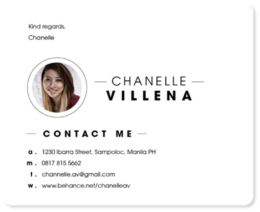 An example of a professional email signature with clear contact information