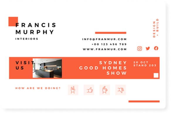 Email signature banner example
