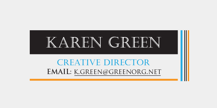 Reply email signature design
