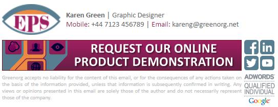 Track email signature promotional banner link clicks