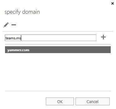 Specify domain