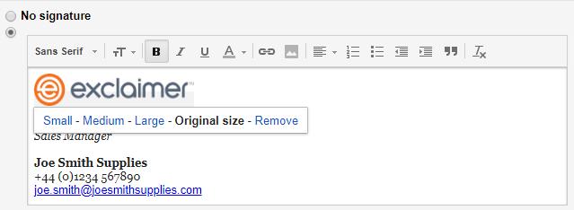 Adjust signature logo size.