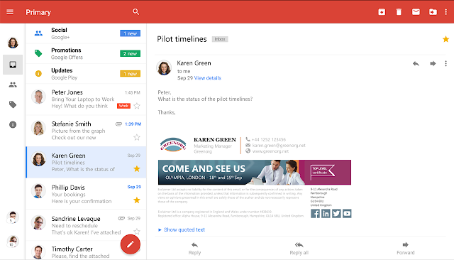 Choose Exclaimer for Gmail signature management