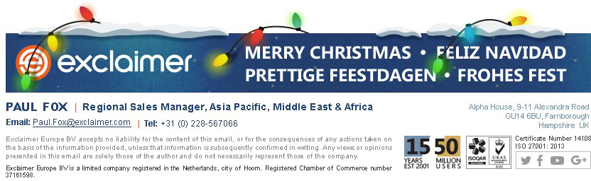 Christmas email signature template - Language