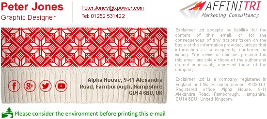 Christmas jumper-themed email signature template