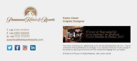 Email signature branding