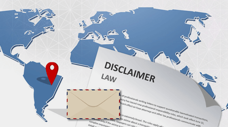 International email disclaimer laws