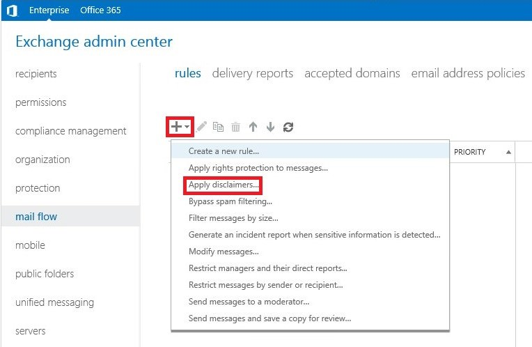 Set up a rule for your Exchange email signature.