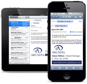 Use email signature management to ensure your template works on mobile devices.