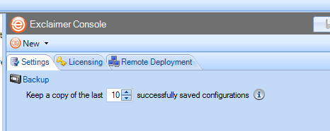 The 'Remote Deployment' setting helps with Exchange email signature management.