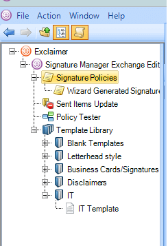 You can create multiple policies based on something like a department or organizational unit to affect how the Exchange signature is deployed.