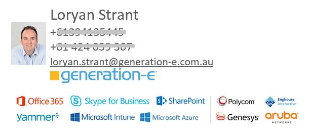 Final email signature design