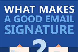 Good email signature infographic
