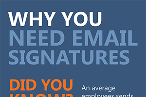 Why you need email signatures infographic