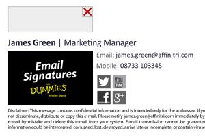 Email signature images