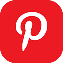pinterest icon download 128x128 - curved