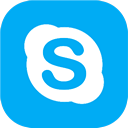 skype icon download 128x128 - curved