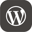 wordpress icon download 128x128 - curved