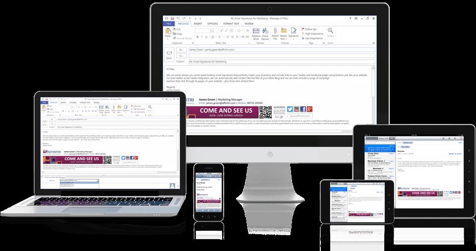 Fügen Sie E-Mail-Signaturen allen mobilen Geräten hinzu