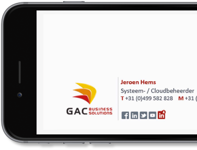 Exclaimer Cloud - Signatures for Office 365 was used for GAC Business Solutions' Microsoft 365 (formerly Office 365) signatures.