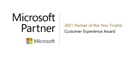 2021 Microsoft Customer Experience Partner of the Year