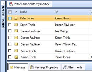 Standaard kunnen gebruikers al hun eigen mail zien die zij ooit hebben verzonden of ontvangen. Maar u kunt regels toepassen die meer opslagplekken, gebruikers en groepen toevoegen aan hun zoekopdracht voor maximaal zakelijk voordeel.