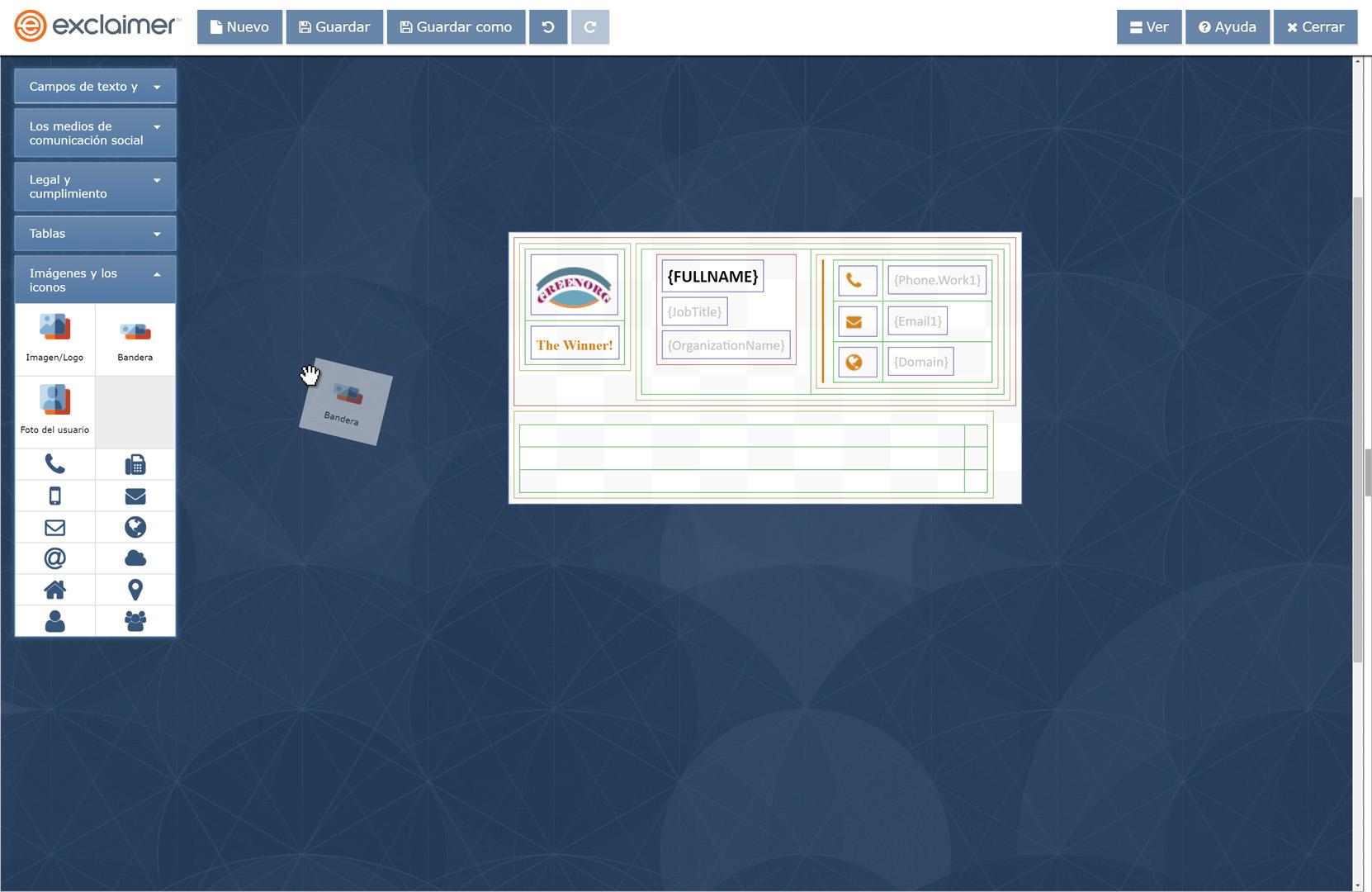 El editor de firmas de arrastrar y colocar de G Suite está diseñado para usuarios de todos los niveles de TI.