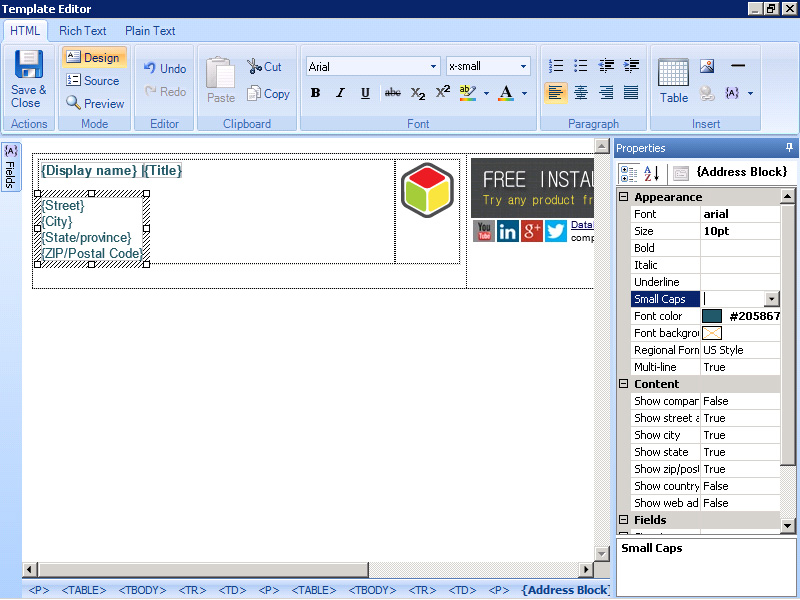 Easily create professional Outlook signatures with Signature Manager Outlook Edition.