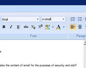 Set the size, color and style of all Outlook signature fonts.