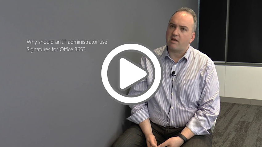 Loryan Strant, Microsoft Office Servers and Services MVP (formerly Office 365 MVP), discusses the limitations of using Office 365 for email signature management and how Exclaimer Cloud - Signatures for Office 365 makes the whole process easier in this video from Melbourne, Australia.