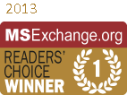 MSExchange Readers Choice Winner 2013