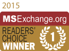 MSExchange Readers Choice Winner 2015